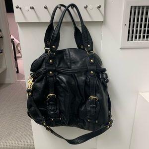 Sabina New York Black Leather Satchel